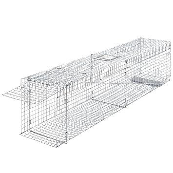 festnight trampa jaula galvanizado 150 x 30 x 35 cm: Amazon.es: Bricolaje y herramientas