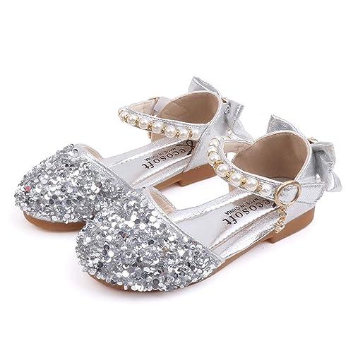 YOSICIL Bebé Niñas Disfraz Zapatos de Princesa con Arco ...