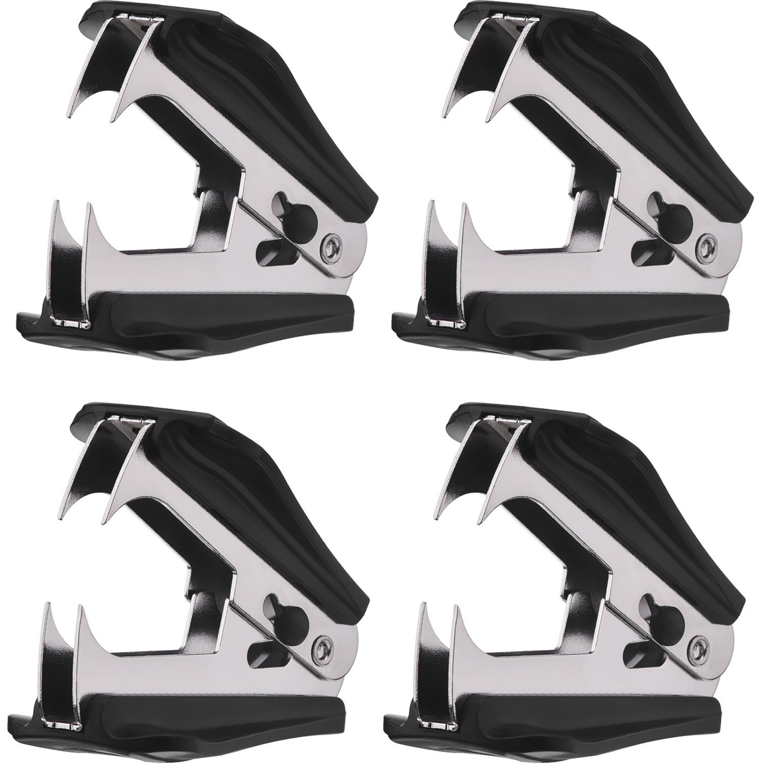 Office and Home,Black 4 Pack Staple Removers Staple Remover Tool with Extra Wide Steel Jaws for School
