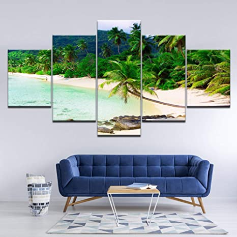 RMRM Pintura en Lienzo paraíso Hermosas Palmas Paisaje de la ...