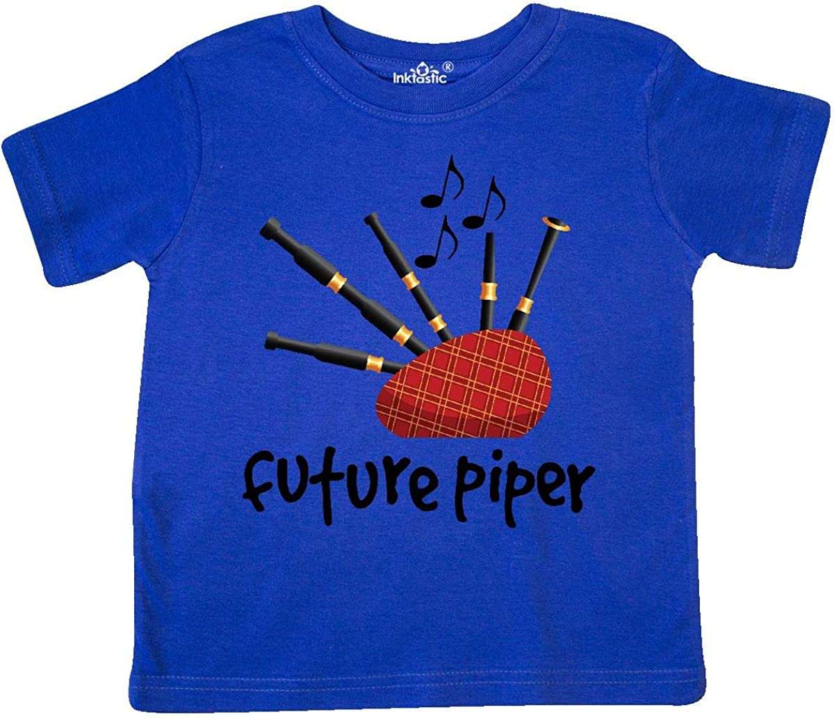 inktastic Bagpiper Kids Future Piper Toddler T-Shirt