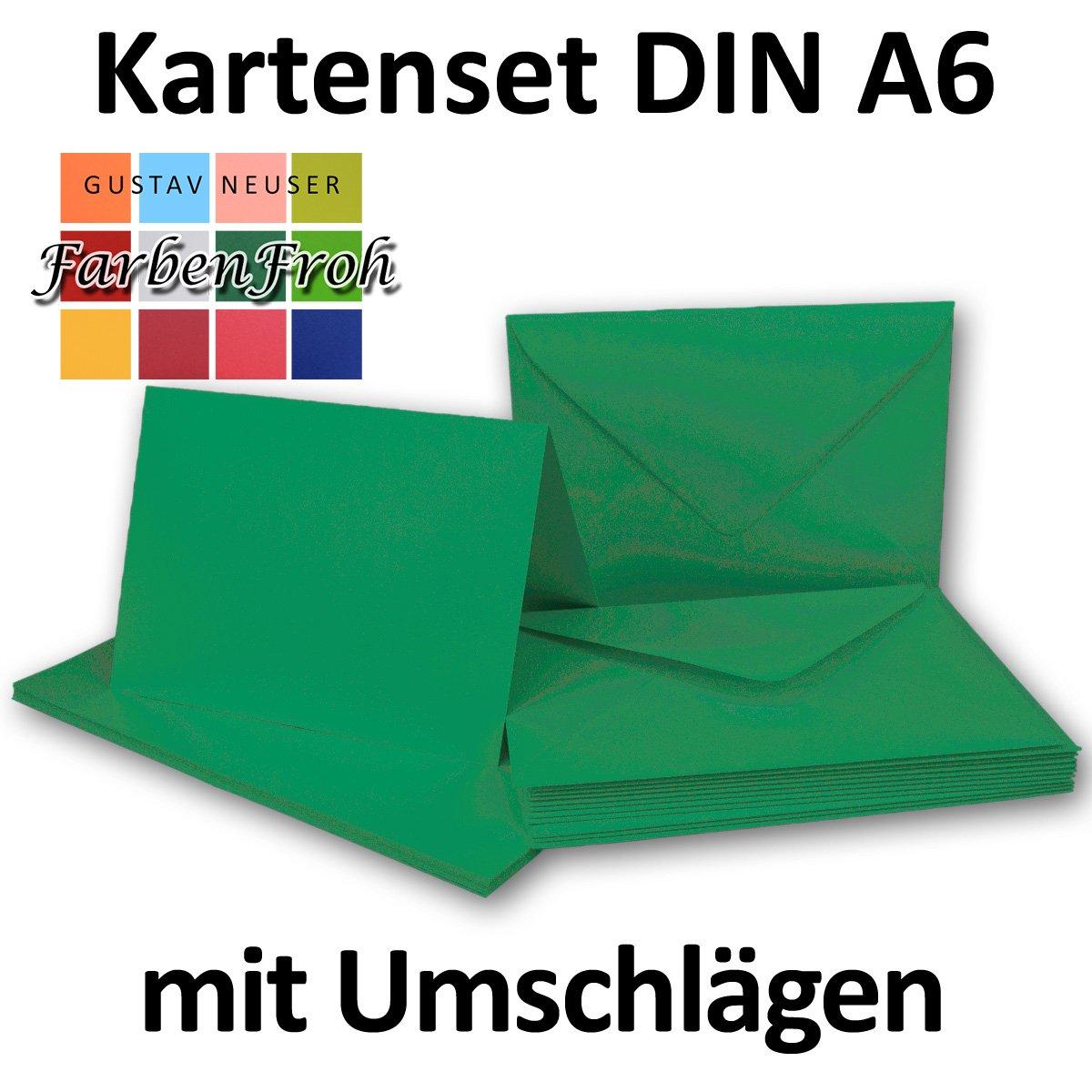 Faltkarten Faltkarten Faltkarten Set mit Brief-Umschlägen DIN A6   C6 in Rosanrot   100 Sets   14,8 x 10,5 cm   Premium Qualität   Serie FarbenFroh® B076TCLXXP | Spielen Sie das Beste  cb33dc