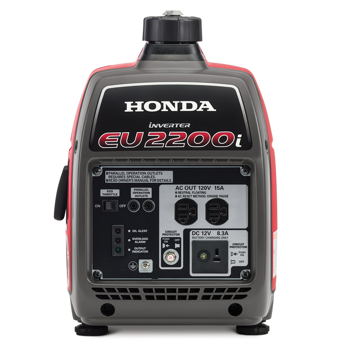 amazon com honda eu2200i 2200 watt 120 volt super quiet portable rh amazon com