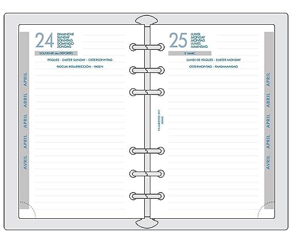 Amazon.com : Exacompta Exatime 17 Journalier Refill 2016 to ...