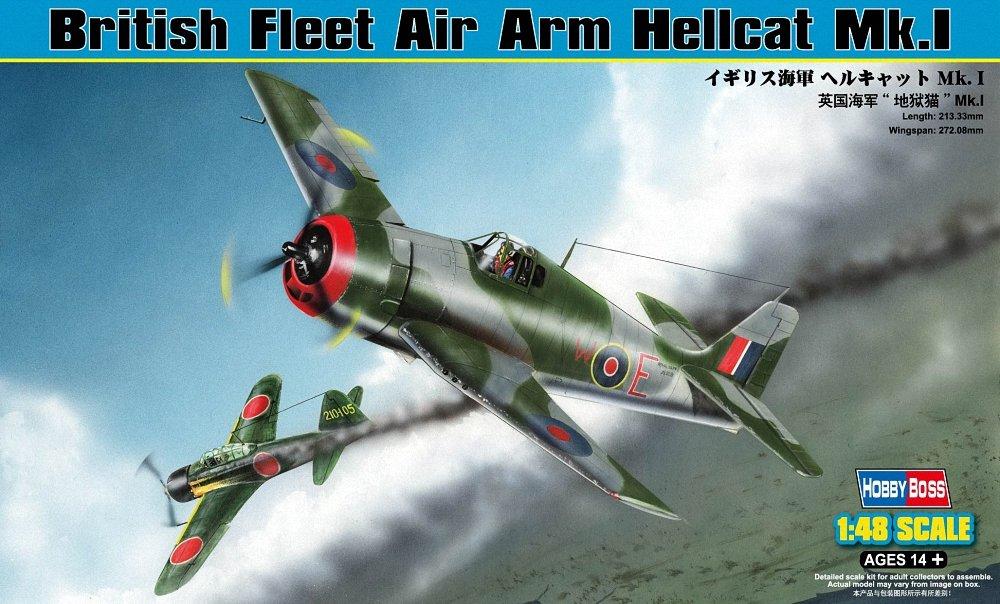 48/British Fleet Air Arm Hellcat MK 2,5/cm mod/èle Kit Gris Hobbyboss /échelle 1