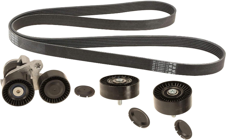 Drive Belt Tensioner Assembly Idler Pulley Kit For BMW