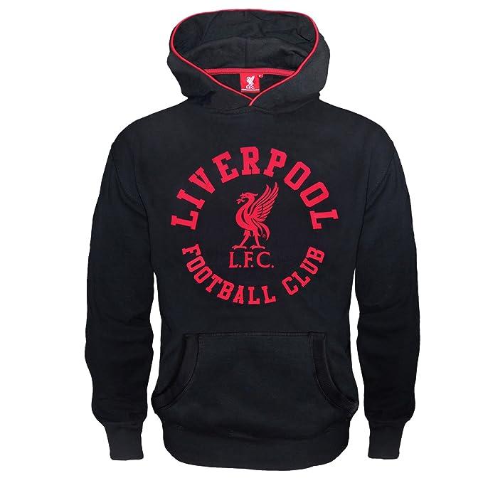 Liverpool FC - Sudadera oficial con capucha - Para niño - Con el escudo del club - Forro polar: Amazon.es: Ropa y accesorios
