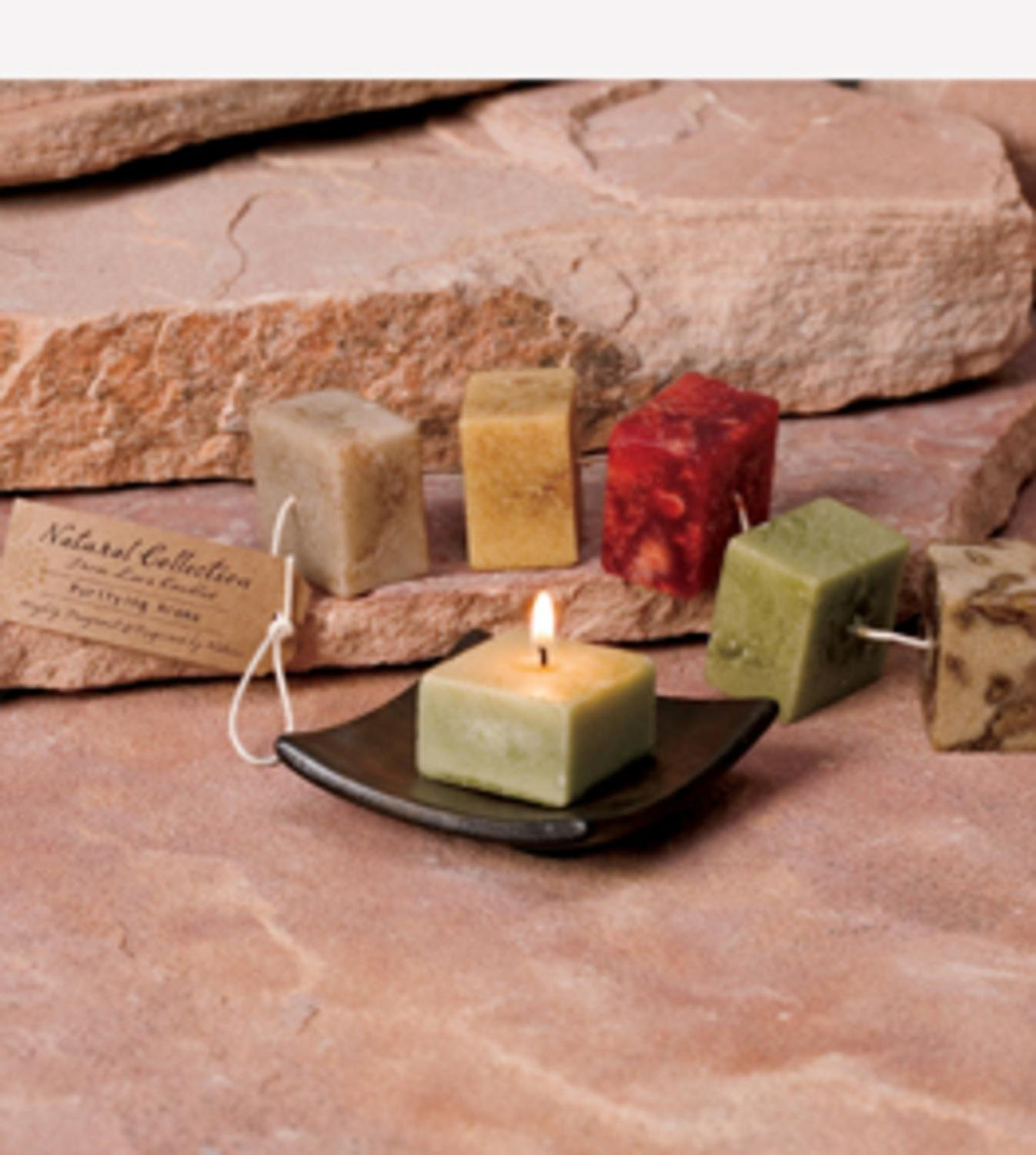 CC Home Furnishings Pack of 6 Purifying Aromatherapy Scented Rope Candles