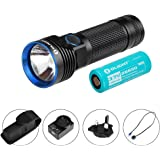 Olight® Max 3200 Lumens R50 PRO Seeker/R50 Pro Seeker LE(Law Enforcement) Rechargeable Side-switch LED Torch Flashlight with Cree XHP70 LED