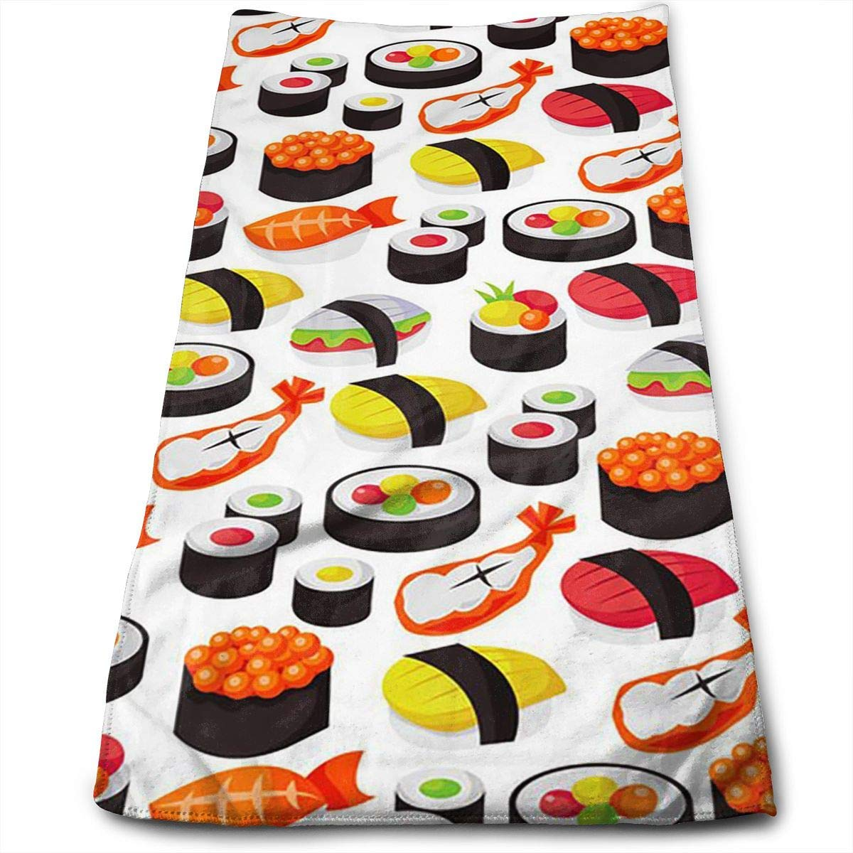 WCMBY Hand Towels Japanese Sushi Face Towels Highly Absorbent Towels for Face Gym and SPA 12' X 27.5'