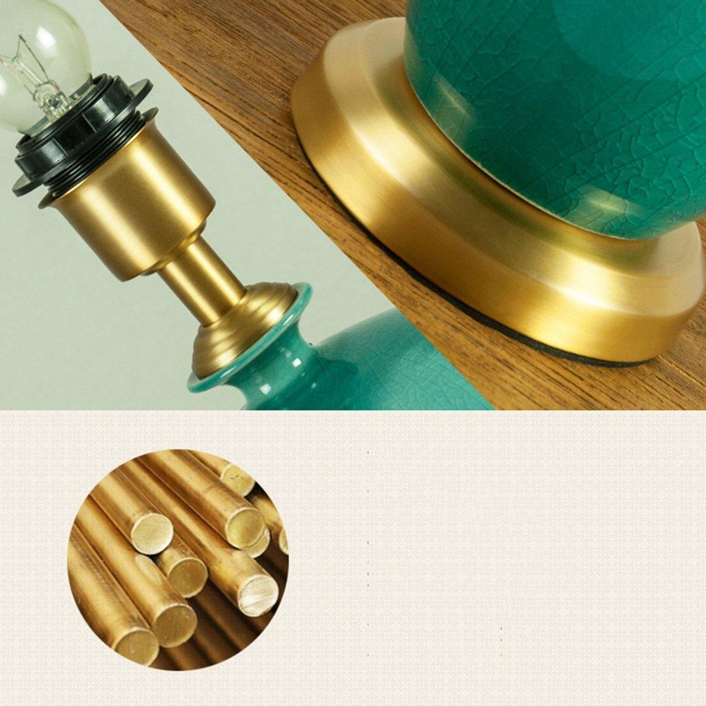 Tischlampe Keramik Licht Lesen Schlafzimmer Wohnzimmer Creative Einfache Einfache Einfache Voller Kupfer Schalter Grün A B07BLSMRGW | Sehr gelobt und vom Publikum der Verbraucher geschätzt  0275aa