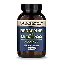 Dr. Mercola, Berberine and MircoPQQ Advanced, 90 Servings (90 Capsules), Supports Immune Health, Non GMO, Soy Free, Gluten Free