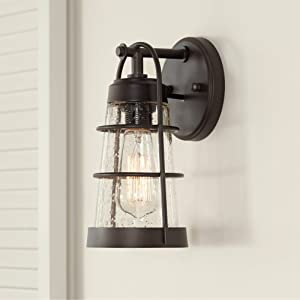 Averill Park Rustic Farmhouse Outdoor Wall Light Fixture Oiled Bronze 10 1/4