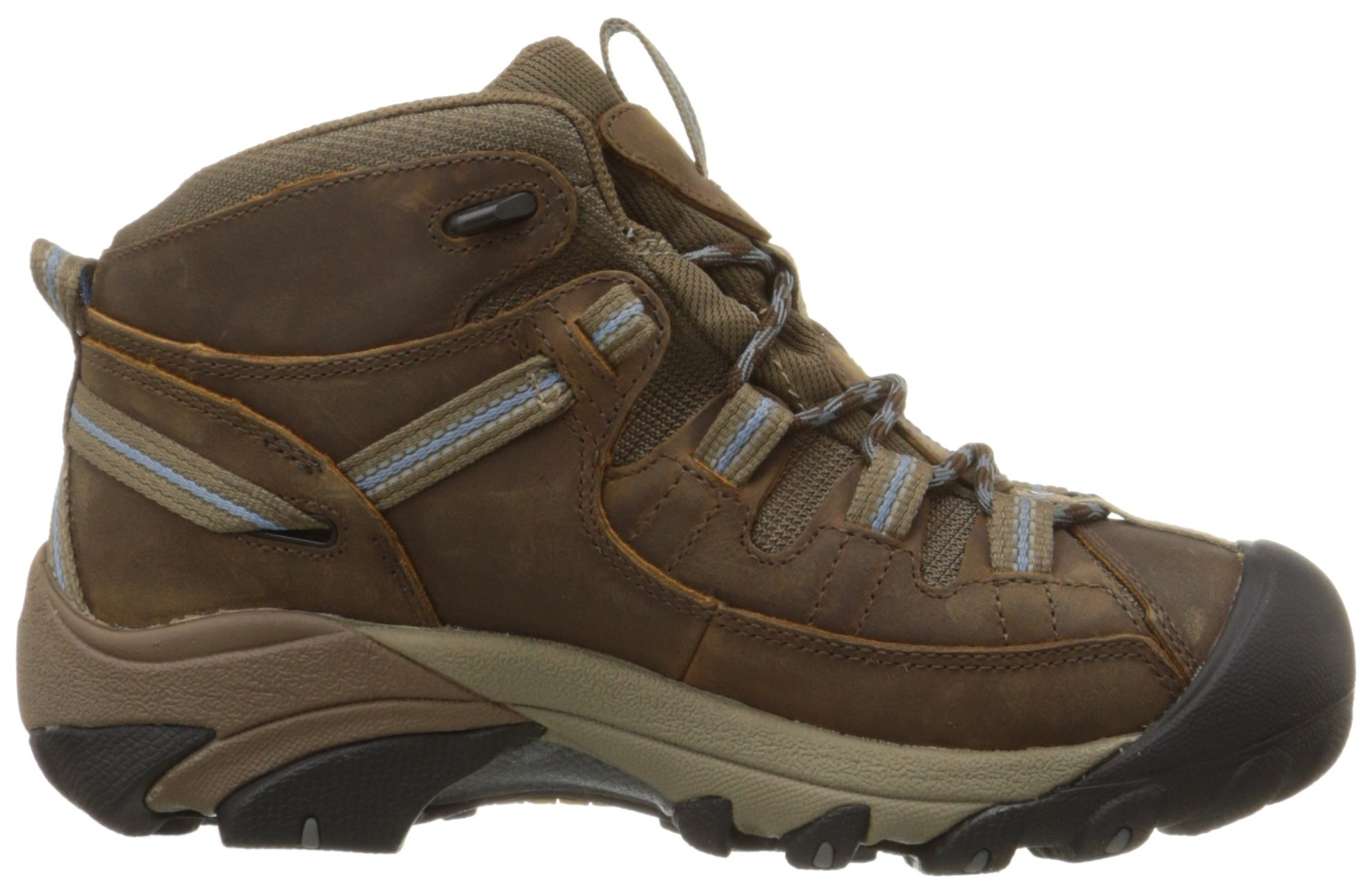 KEEN Women's Targhee II Mid Waterproof Hiking Boot,Slate Black/Flint Stone,8.5 M US by KEEN (Image #7)