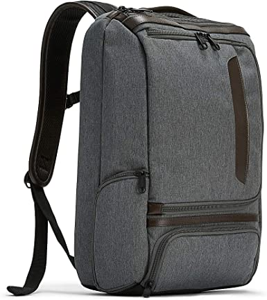 eBags Pro Slim Leather Trim Laptop Backpack (Heathered