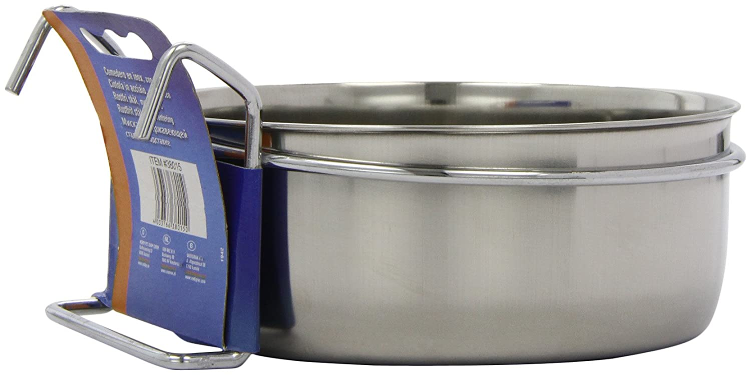 600 ml Nobby Stainless Steel Bowl with Clamp 12 cm