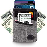 Minimalist Slim Wallet- Front Pocket Credit Card Holder with Cash & Key