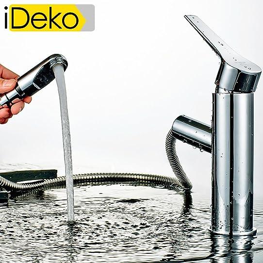 ideko® robinet mitigeur lavabo robinet salle de bain avec ... - Robinet Salle De Bain Avec Douchette
