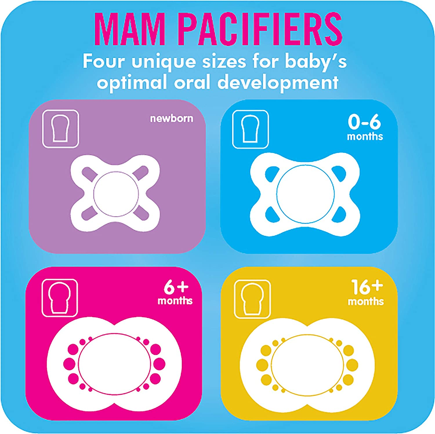 Start Design Collection Unisex 2-Count MAM Pacifiers Newborn Pacifier Best Pacifier for Breastfed Babies