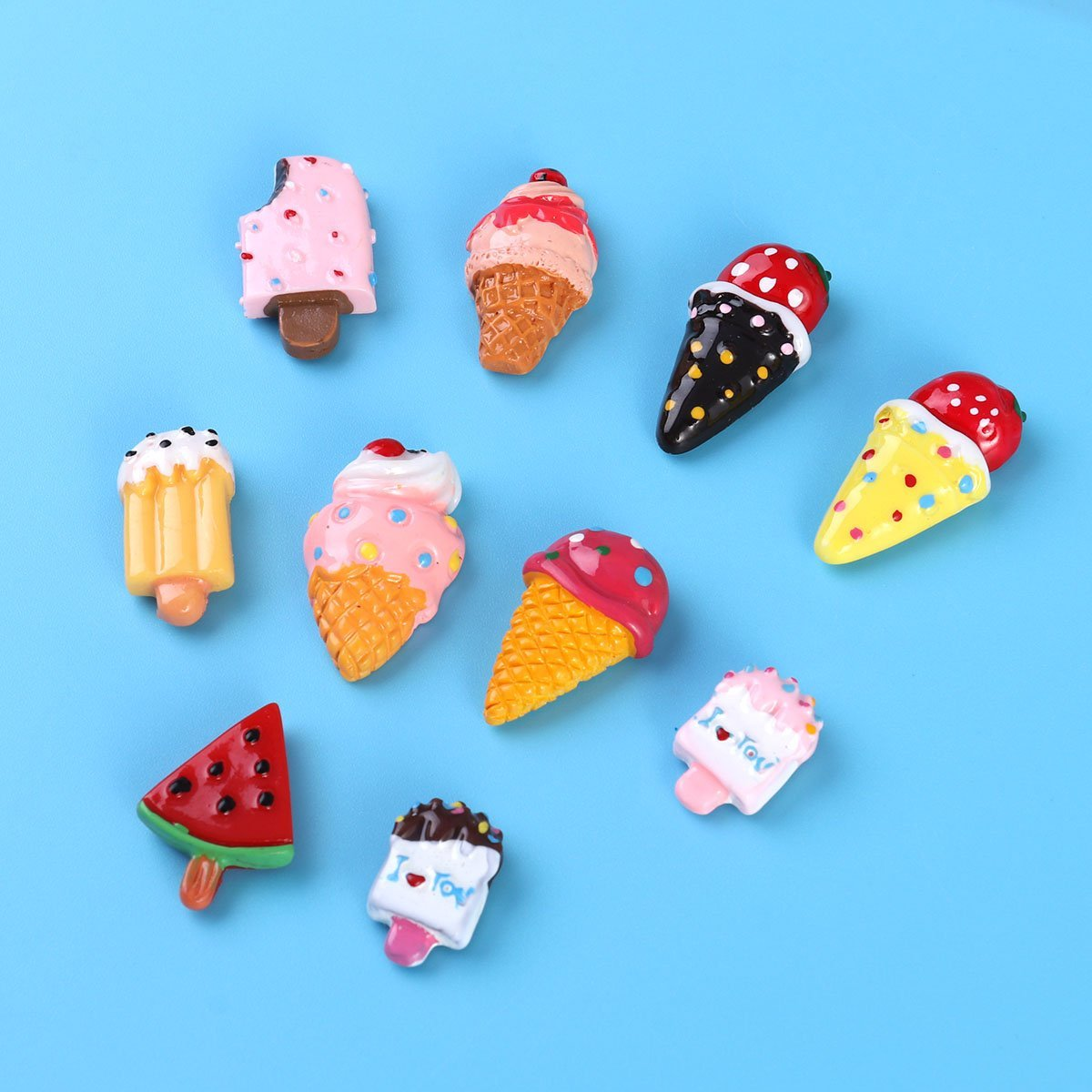 OUNONA Magnetic Dessert Fridge Magnet Sticker Ice Cream Refrigerator Magnets for Kitchen Office Cabinets Whiteboard Decor