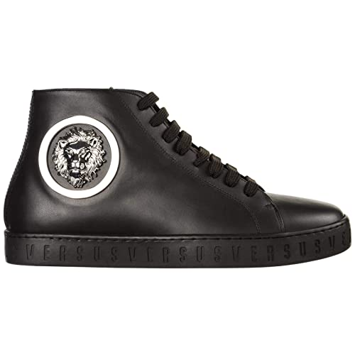 Versus Versace Sneakers Alte Lion Head Uomo Nero: Amazon.it ...