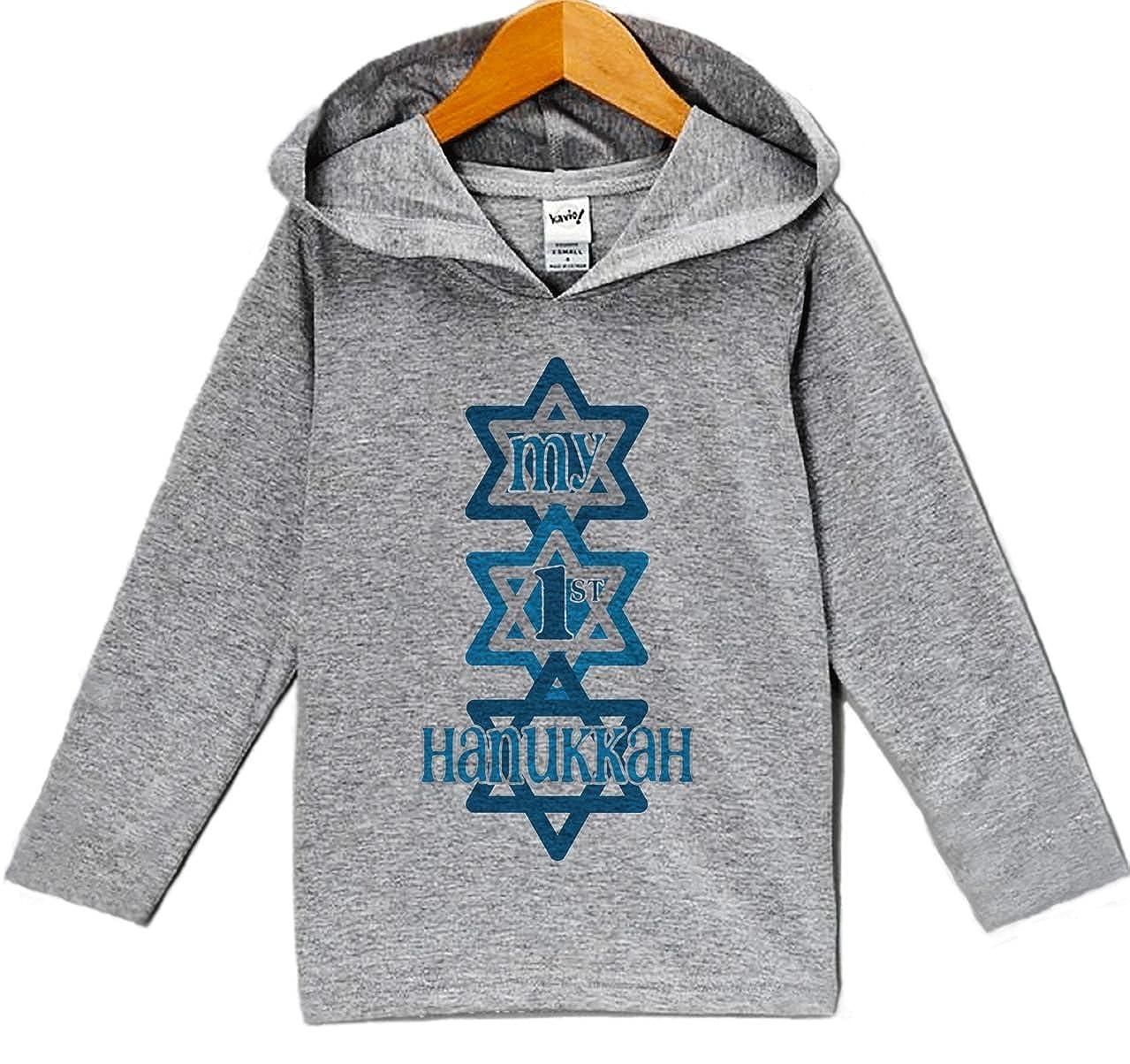 Custom Party Shop Babys My 1st Hanukkah Hoodie Grey
