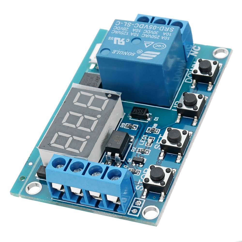 DC 6V To 30V One Way Relay Module Delay Power Off Disconnection Trigger Delay Cycle Timing Circuit Switch - Arduino Compatible SCM & DIY Kits - Module Board