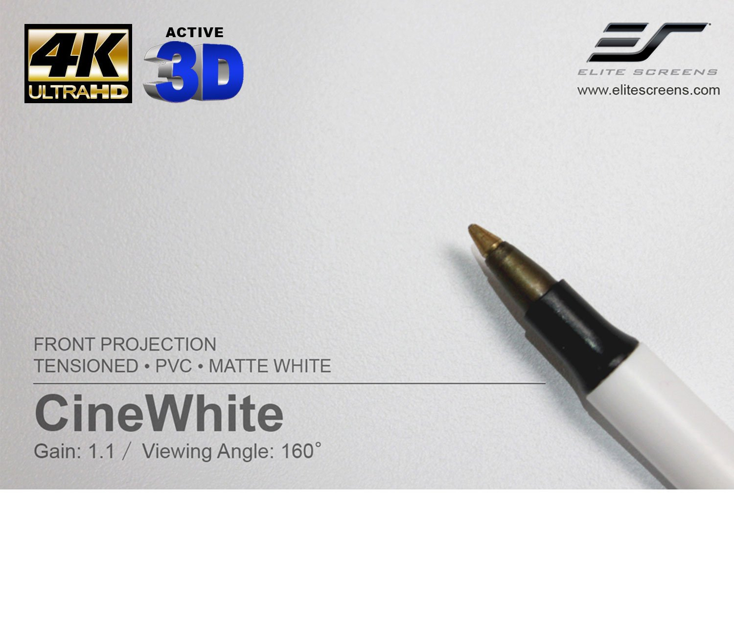 Elite Screens CineTension2, 106-inch 16:9, 4K/8K Tab-Tensioned Electric Drop Down Projection Projector Screen, TE106HW2