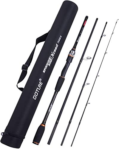 Goture Travel Fishing Rods 4Pcs,Casting Spinning Rod with Case 6ft-10ft