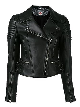 8cf1862fafaa Takitop Athena Fancy Black Biker Motorcycle Moto Real Leather Jacket Women  Missy at Amazon Women's Coats Shop
