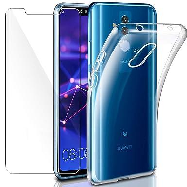 2f344383c09fd Leathlux Funda Huawei Mate 20 Lite Funda + Protector de Pantalla de Cristal  Templado