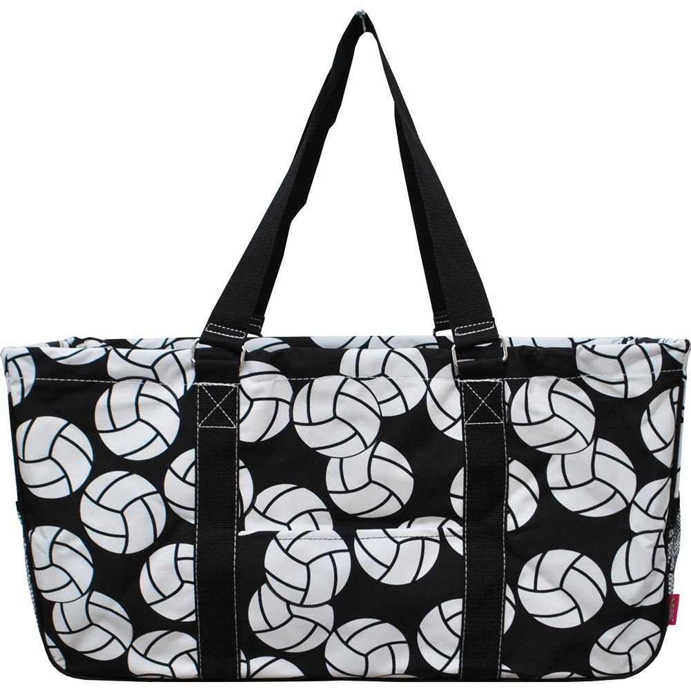 Volleyball Print Large Canvas Utility Tote Bag 557be58a410c9