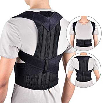 faa7d0752d Back Posture Corrector Shoulder Lumbar Brace Spine Support Belt Adjustable  Adult Corset Posture Correction Belt