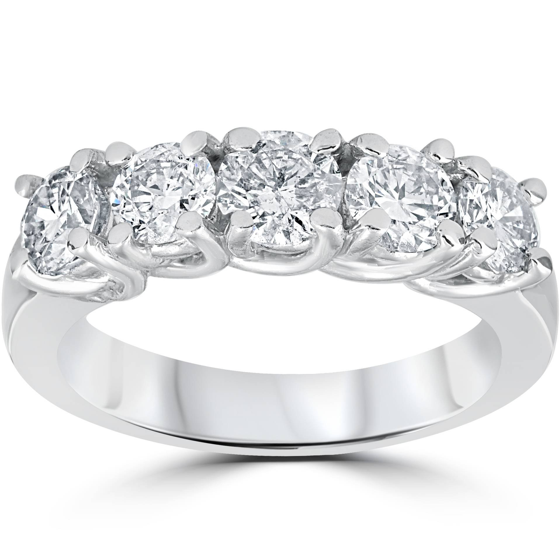 1 1/2ct Diamond Wedding Anniversary Band 14k White Gold Ring