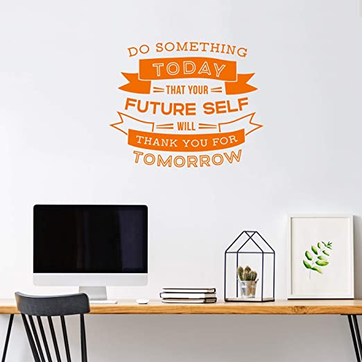 Today Tomorrows wall sticker quote art decor LARGE vinyl decal