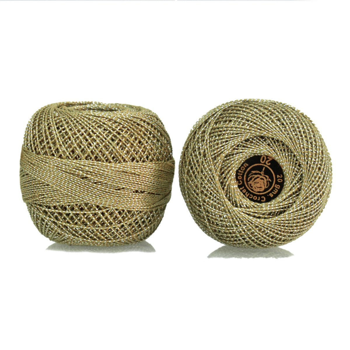 Crochet Cotton Thread with Metallic Yarn size 20 for weaving, knitting and craft, 1 Ball, 200 Yard of 100% cotton threads per roll, Factory made thread consistent in color and quality(Black) embroiderymaterial.com