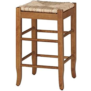 Amazon Com Birdrock Home Woven Rush Backless Barstools