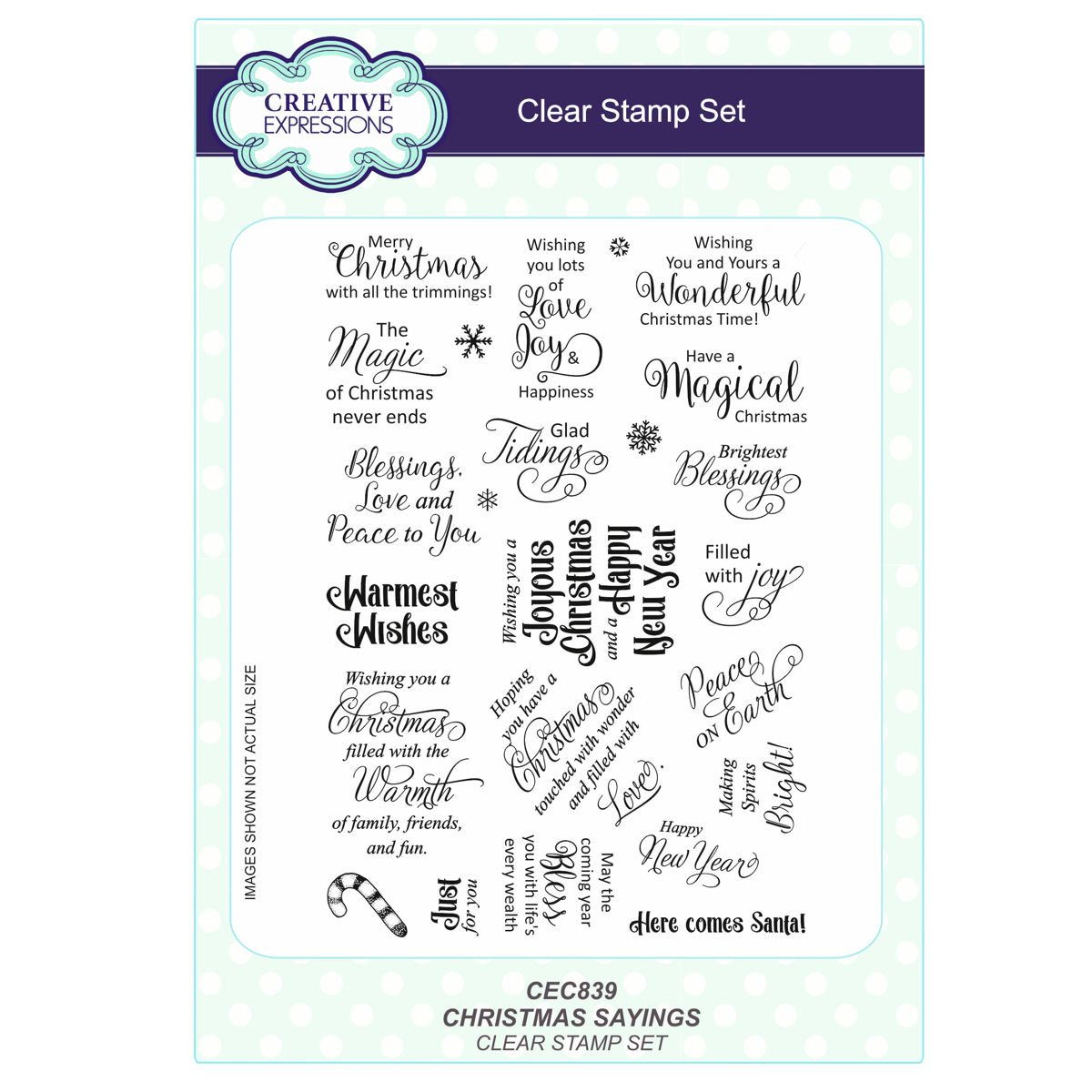 CLEAR STAMPS CEC839 Christmas Sayings Set: Amazon.in: Electronics