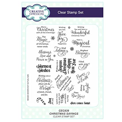 Christmas Expressions.Creative Expressions Christmas Sayings A5 Clear Stamp Set