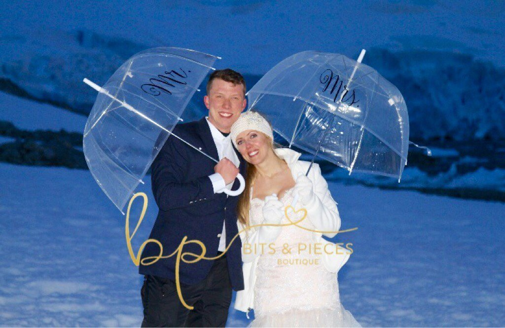 Mr. & Mrs. Umbrella Set - Engagement, Wedding, Photo Shoot, Photographer/Bride Groom Bridesmaid Flower Girl Ring Bearer Maid of Honor