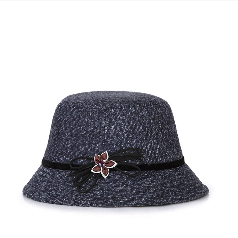 2018 Hot Winter Womens Fedora Caps Vintage Sun Hats for Woman Lady Wide Brim Wool Felt Flowers Hat for Women