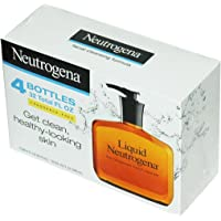 Neutrogena Fragrance Free Liquid Facial Cleansing Formula, 8 Oz Paquete de 4