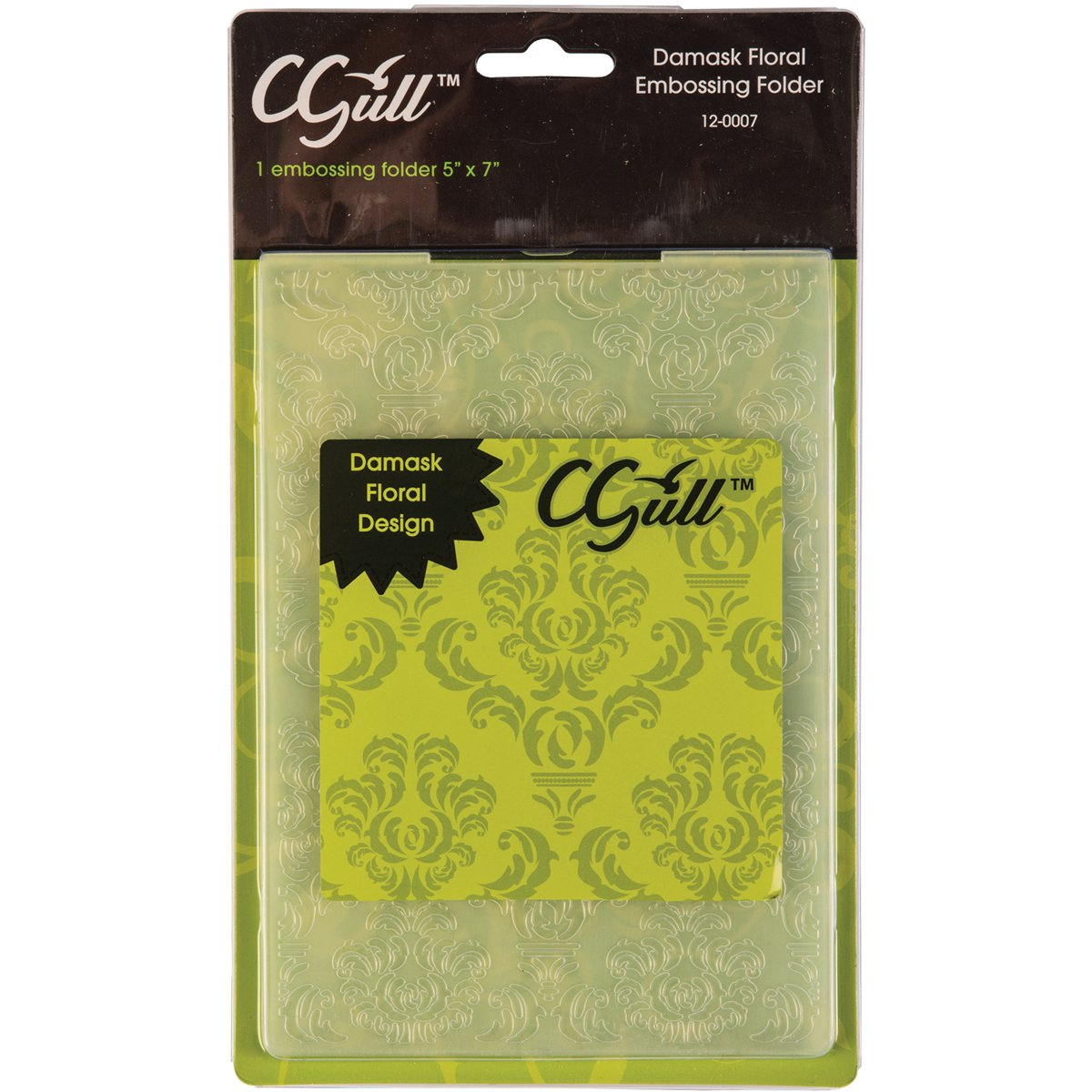C-Gull Embossing Damask Floral Folder, 5x7-Inch 12-0007