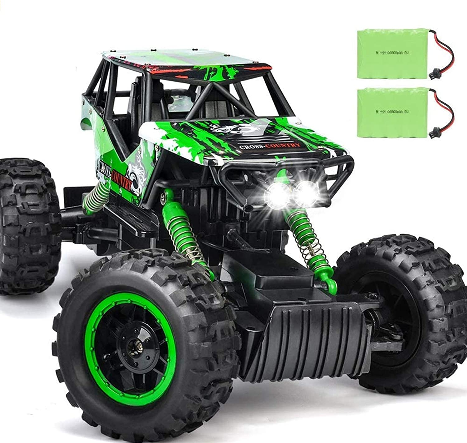 DOUBLE E RC Car 1:12 Remote Control Car Monster Trucks with Head Lights 4WD Off All Terrain RC Car Rechargeable Vehicles: Toys & Games
