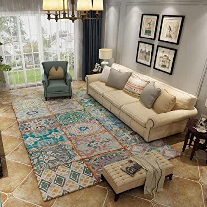 Máquina Antigua touffue acrílico alfombra persa protectora de noche abstracta moderna minimalista sofá mesa alfombra nórdico