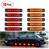Nilight - Kit de montaje de abrazadera horizontal de luz led, Rojo, 5PCS Red+ 5PCS Amber