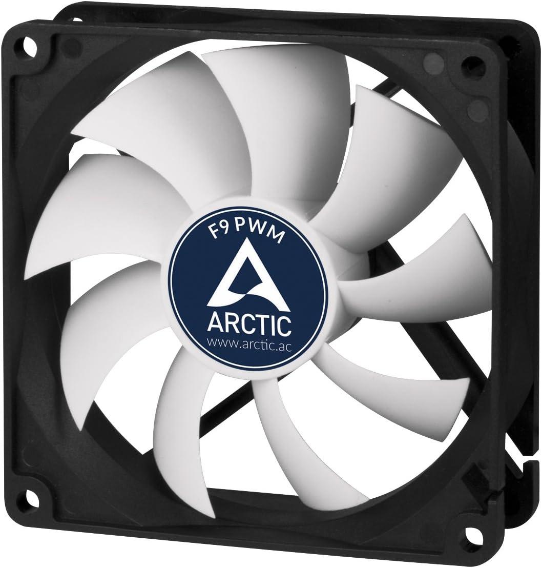 ARCTIC F9 PWM - Ventilador para Caja de 92 mm, Carcasa estándar, Señal PWM para Regular la Velocidad, Posibilidad de Instalar en Dos direcciones, 150-1800 RPM