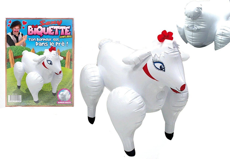 Regalo divertido para adulto, muñeca hinchable de cabra ...