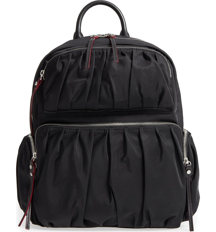 (エムジーウォレス) MZ Wallace Madelyn Bedford Nylon Backpack レディース バックパックリュックサック [並行輸入品] B07JCRPF1L ブラック One Size
