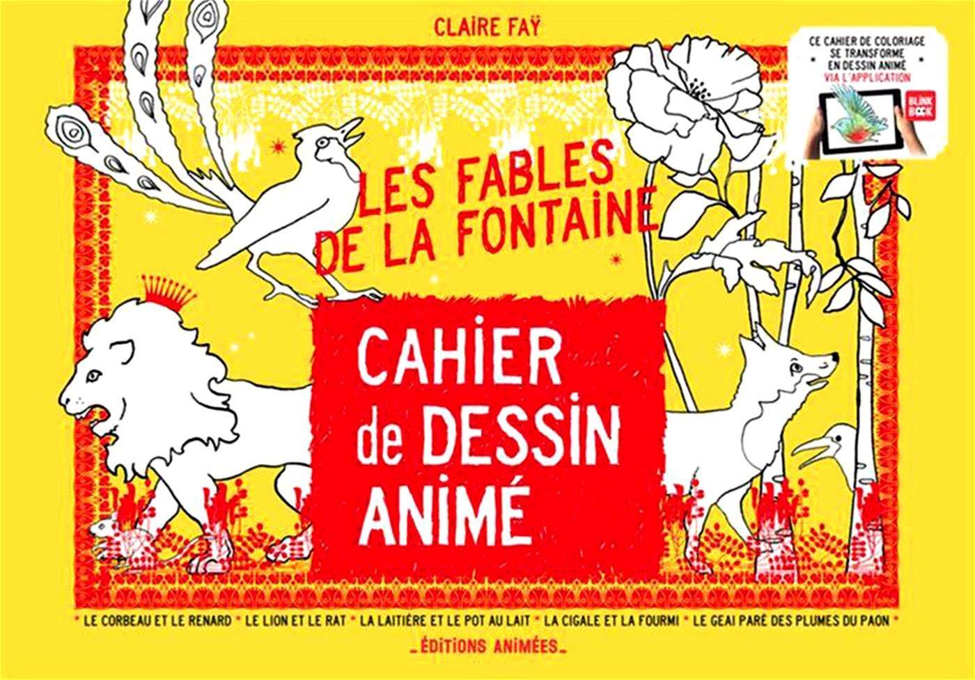 Cahier De Dessin Animé Les Fables De La Fontaine Amazon Fr Claire